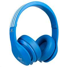 adidas Originals by Monster Headphones (3-Button Control Talk & Passive Noise Cancellation) - Blue (Zavvi)