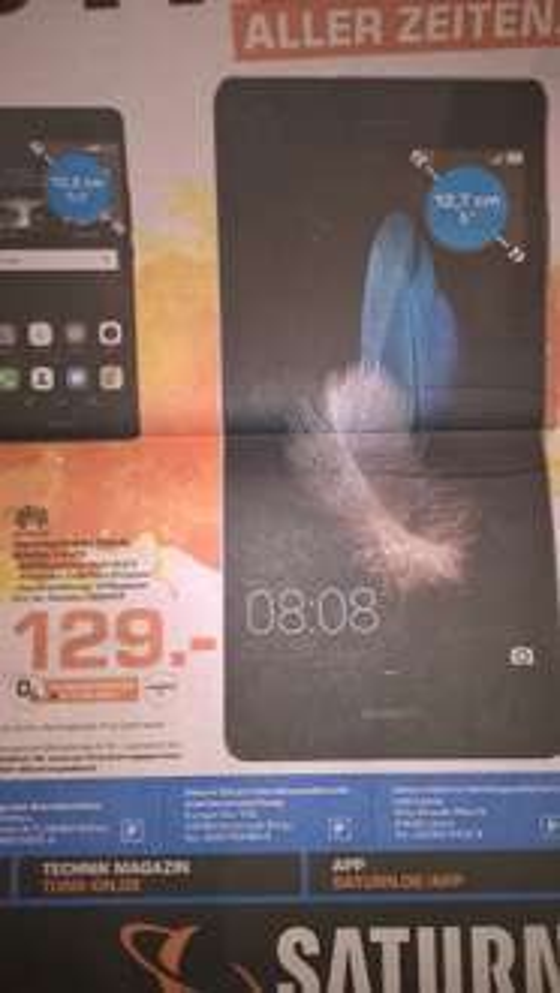 [Lokal Saturn Dortmund, Lünen, Witten] Huawei Ascend P8 Lite Dualsim (Hybrid-Slot) mit 5'' Display, 2 GB RAM
