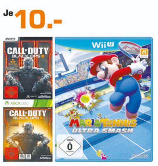 [Lokal Saturn Mülheim] COD Black Ops 3 (PC und XBox 360) und Mario Tennis:Ultra Smash (Wii U) für je 10.-€
