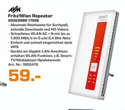 (Lokal) FRITZ!WLAN Repeater 1750E für 59€ @ Saturn Essen