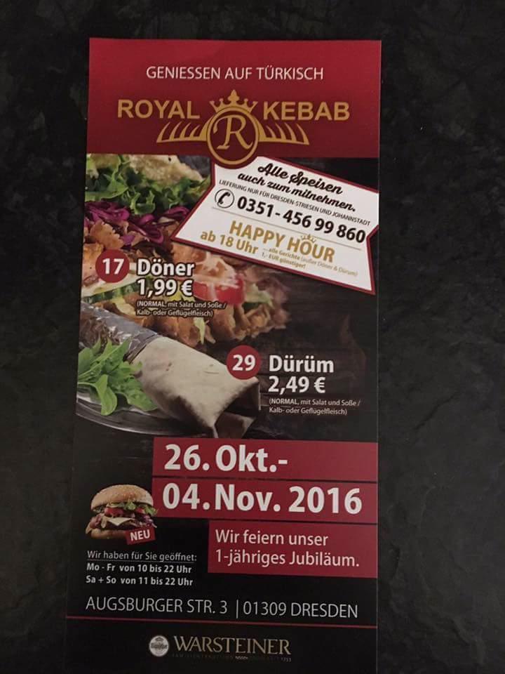 Döner für 1,99 bei Royal Kebab Dresden