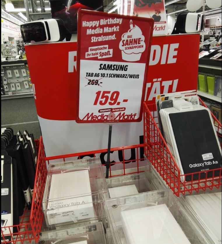 Samsung GALAXY Tab A 10.1 Tablet WiFi 16 GB Schwarz/Weiß für 159,-  (Lokal Stralsund)