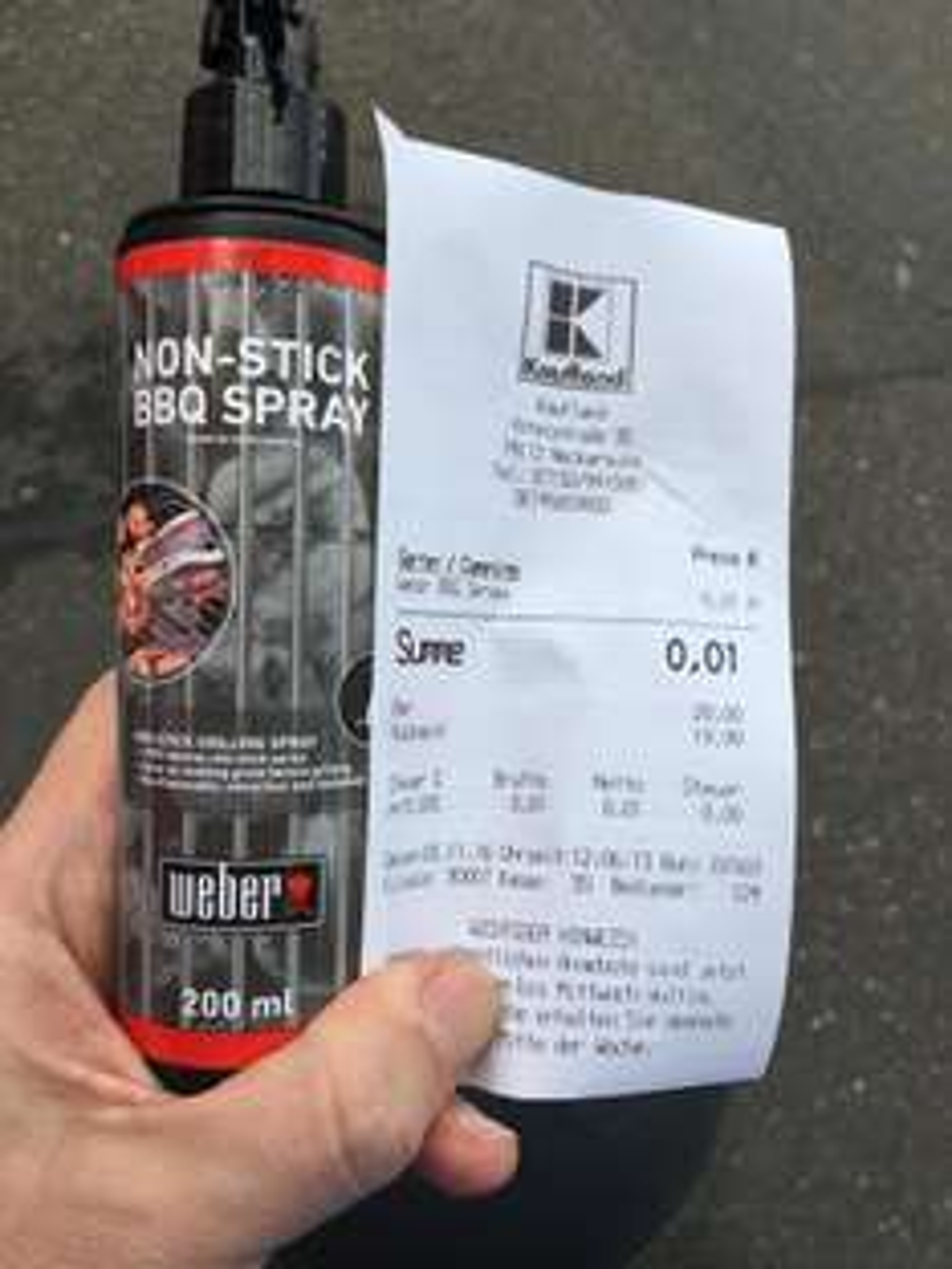 Weber Non Stick Spray im Kaufland Neckarsulm für 0,01€ anstatt 5,99€