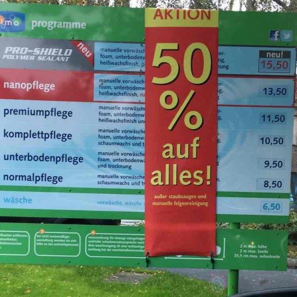 Imo Waschanlage Berlin Saatwinkler Damm (Flughafen Tegel) 50 % auf alle Autowäschen plus Gratis Staubsaugen