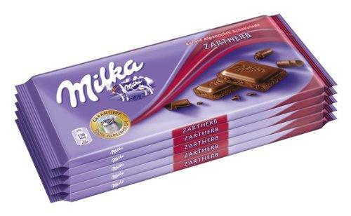 Amazon / Milka Zartherb, Tafelschokolade, 500g, 5er Pack (5 x 100 g) inkl. VSK mit Prime