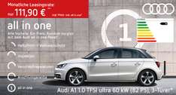 Audi A1 Geschäftskunden Leasing ink. Versicherung, Inspektion, Verschleißreparaturen & Anschlussgarantie 111,90€