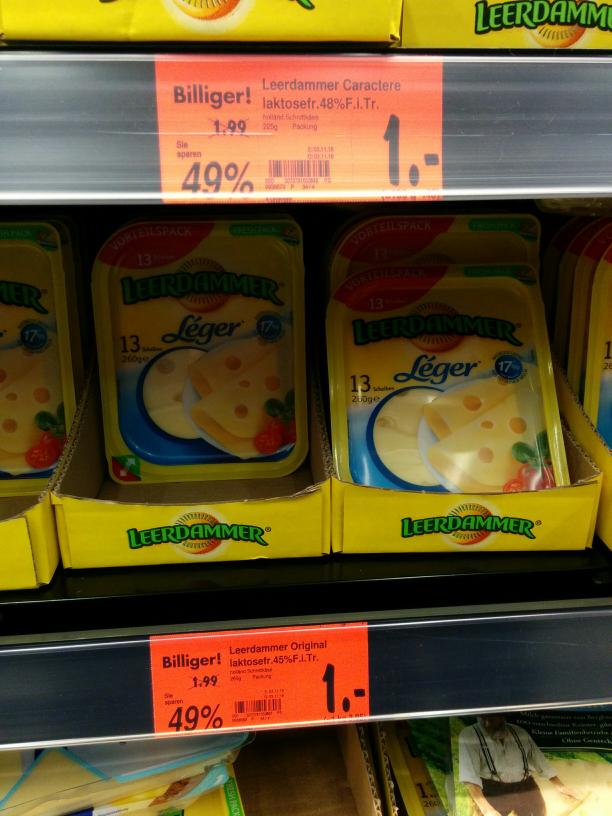 Kaufland Ruhrpark Leerdammer Käse für 1 Euro den Big Pack