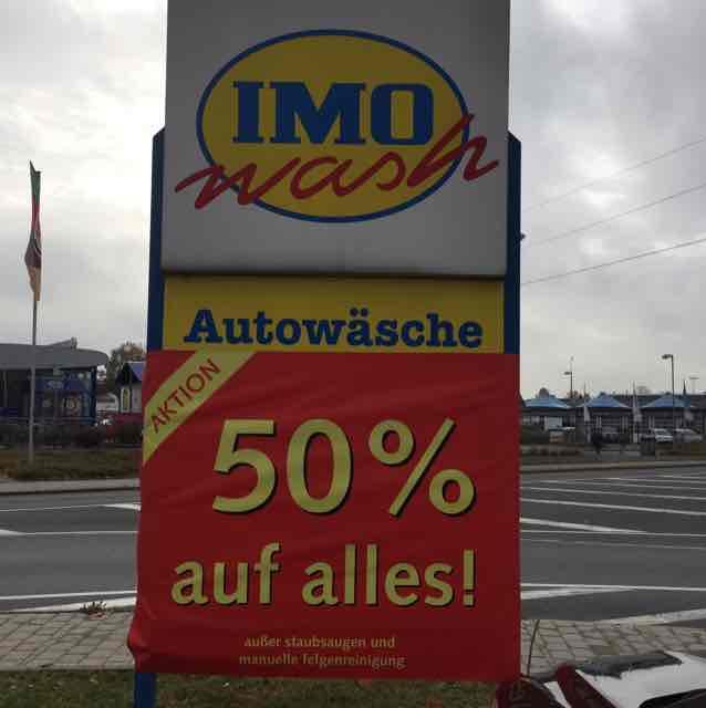 [LOKAL BAYREUTH] IMO Wash Riedingerstr./REAL 50% Rabatt auf alle Autowäschen