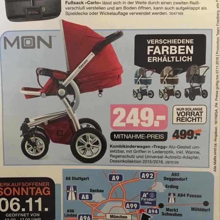 [Segmüller Parsdorf] Kombikinderwagen Tregg von Moon statt 299€ fur 249€