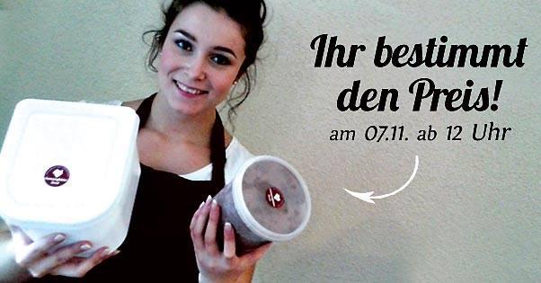 [Lokal Soest 07.11.] Saisonabschluss Eismanufaktur Soest: Behälter mitbringen, mit Eis befüllen lassen, Preis selbst bestimmen