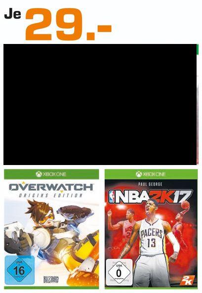[Lokal Saturn Braunschweig] Overwatch: Origins Edition (Xbox One) oder NBA 2K17 (Xbox One) für je 29,-€