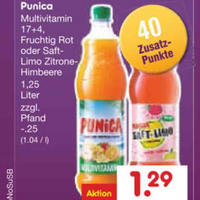 [Netto MD + COUPIES + Deutschlandcard] 1,25l Flasche Punica für nur 25 Cent plus Pfand nur Montag 7.11