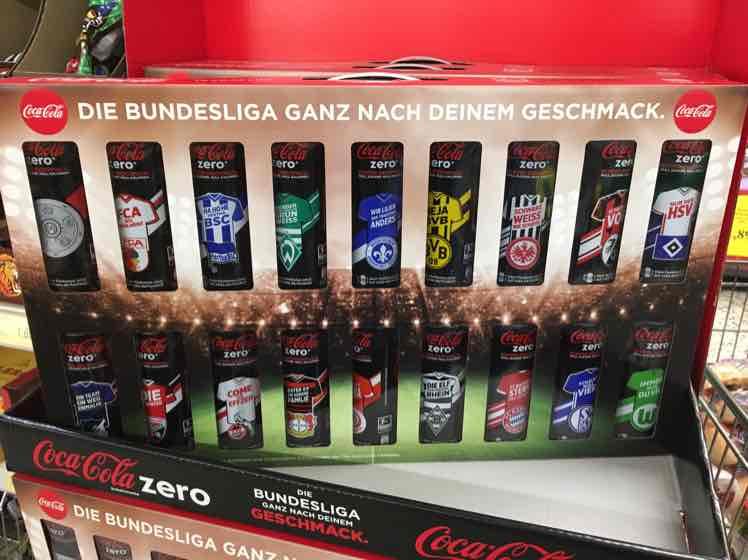 [Thomas Phillips] Coca Cola Zero Bundesliga Dosenkoffer 18x0,33l