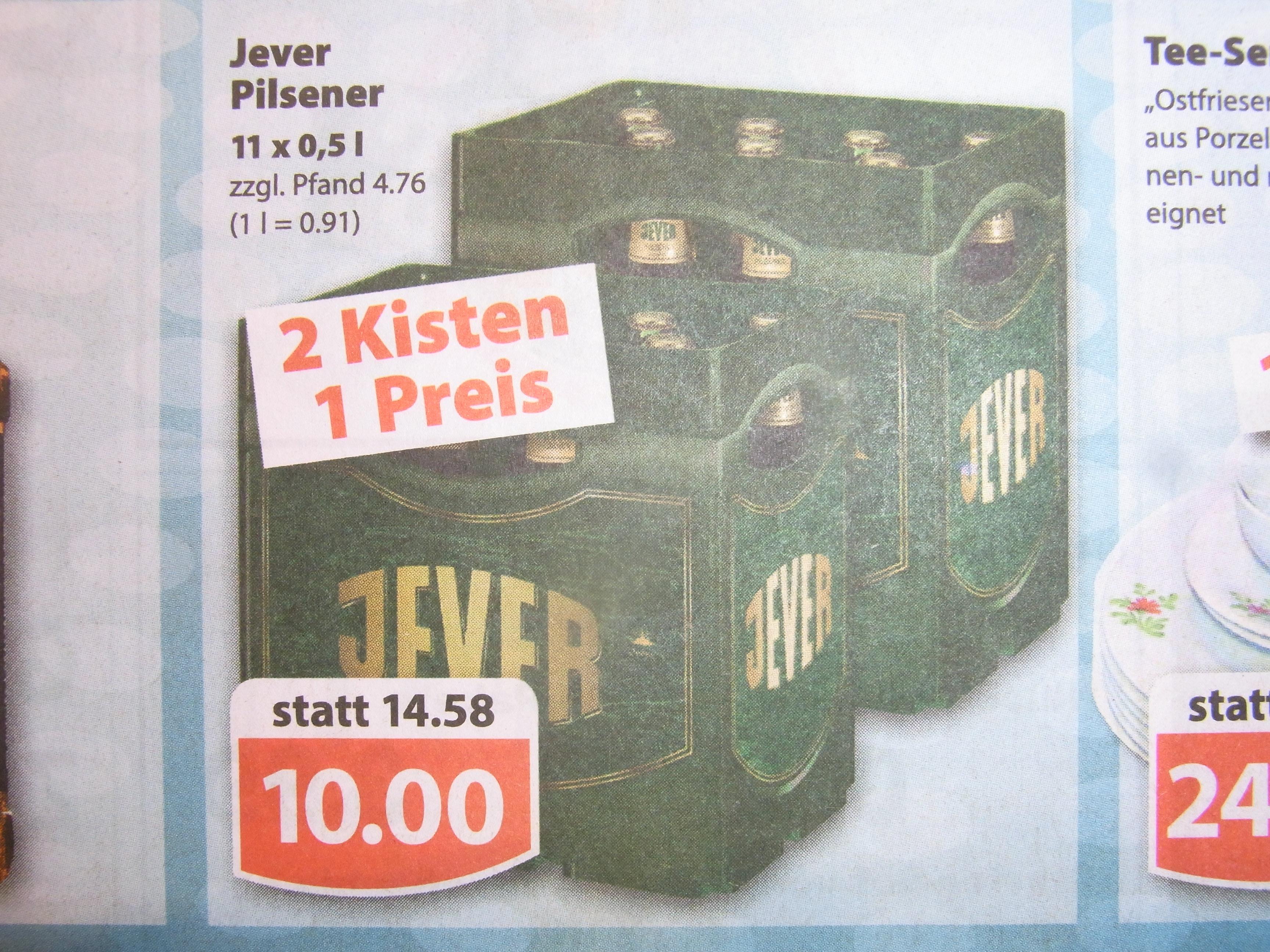 (lokal) Famila Jever, Jever Pilsener, 2 Kisten (je 11 x 0,5 ltr)