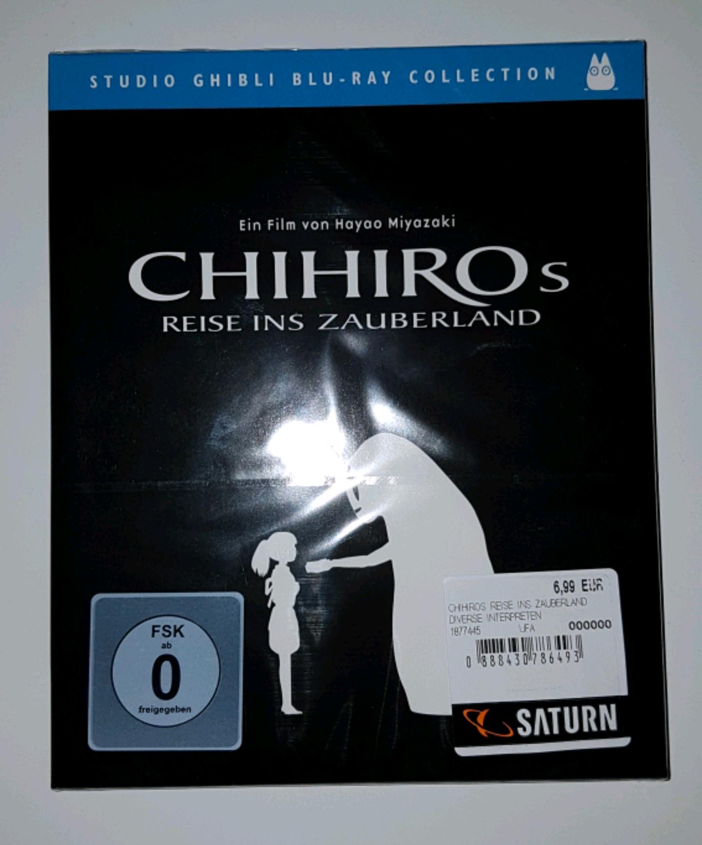[Blu-Ray] Chihiro's Reise ins Zauberland - 6,99€ [ Saturn Berlin / Potsdamer Platz ]