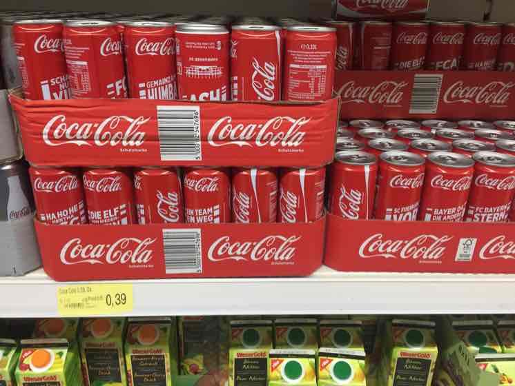 Coca-Cola Dosen Bundesliga Design Zero und normal bei Thomas Philipps für 0,39€