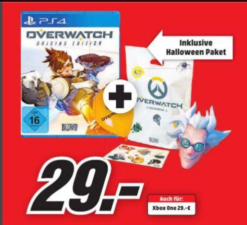 [Lokal Mediamarkt Wuppertal] Overwatch: Origins Edition (PS4 und XboxOne) inc. Halloween Goodies Paket für je 29,-€