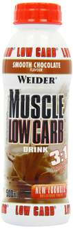 [Amazon Prime] Weider Muscle Low Carb Drink Chocolate 6x500ml, 1er Pack (1 x 3 l)