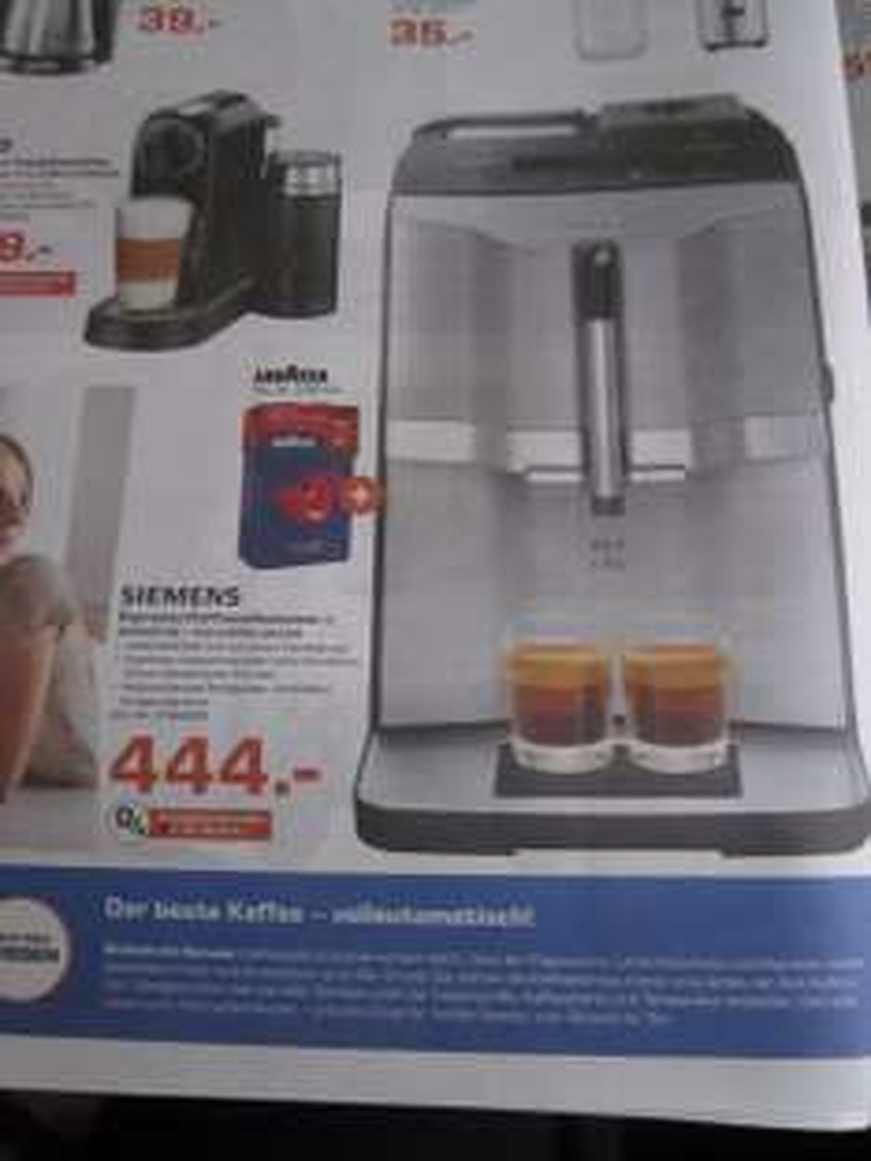 (Lokal Aachen) Siemens EQ3 TI 303503 DE Espresso/ Kaffeevollautomat + 1Kg Lavazza Kaffee