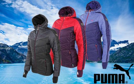 Puma Damen Winterjacke Norway in blau und rot S-XL für 25,00€ (Deal-LX)