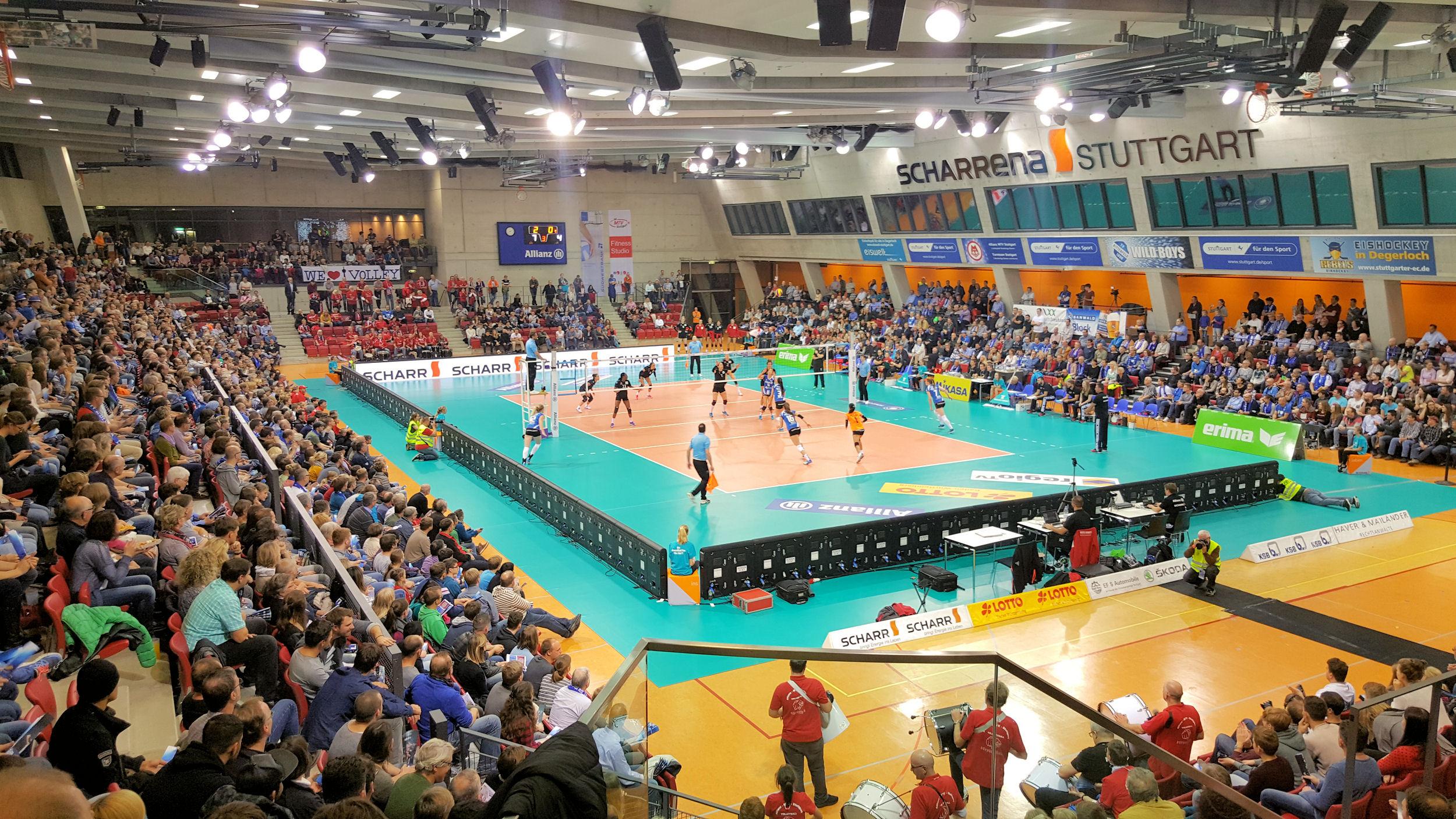 Allianz MTV Stuttgart - Familienticket (2E+3K) 20 EUR nur am Sonntag 13.11. - 1. BL Volleyball Frauen
