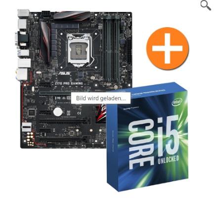 "ASUS Z170-Pro Gaming Mainboard + Intel i5-6600K + Key für ""Mafia 3"" für 340,99€ + [NBB]"