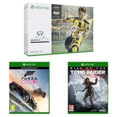 Xbox One S 500GB + Fifa 17 + Forza Horizon 3 + Rise of the Tomb Raider für 284,64€ [Amazon.co.uk]