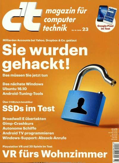 c't - 3 Ausgaben (Printheft + Digitalversion) für 11,10€ mit 10€ Amazon-Gutschein inkl. Zugang zum gesamten Online-Archiv