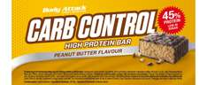 [Amazon] Body Attack Carb Control Protein Riegel, Peanut Butter, 15x100 g