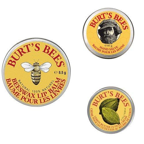 Burt's Bees Dreierbundle Dosen mit pflegender Naturkosmetik [Amazon Prime]