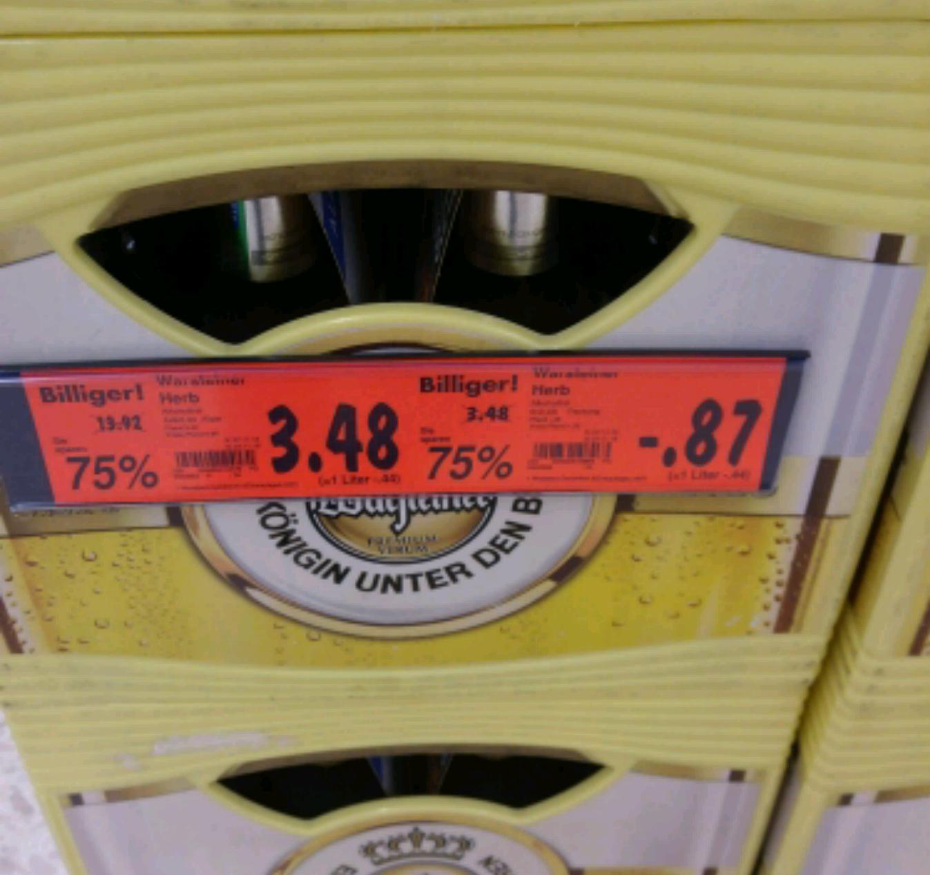 [Kaufland Oberhausen Bero] Warsteiner Herb Alkoholfrei 24er Kasten 3,48€