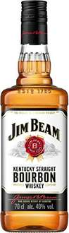 Jim Beam Weiß Kentucky Straight Bourbon Whiskey (1 x 0.7 l) für 9,99€ bei Amazon
