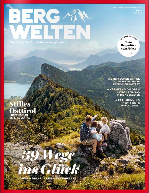 Bergwelten Magazin - 3 Ausgaben + Wanderbesteck/Taschenmesser für zusammen 9,90€