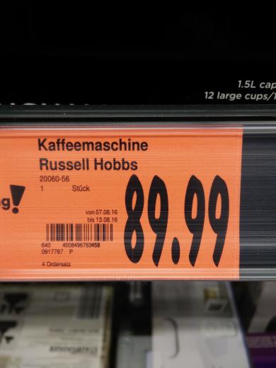 [Lokal Hamburg]Russell Hobbs Allure Grind & Brew für 89.99€ (idealo 126€)¹