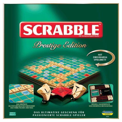 Scrabble Prestige (Luxuriöseste Version) - hochwertiger als Deluxe von Mattel - mit integriertem Drehteller und Holzbuchstaben [Buecher.de]
