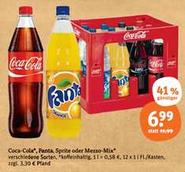 [Tegut] Coca Cola, Sprite, Fanta, Mezzo-Mix 12×1l ab 11.11.