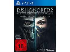 Media Markt Dishonored 2 mit T-shirt und Metal Schild PS4