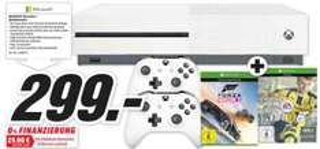 [Media Markt Freiburg] Xbox One S + 2. Controller + Forza Horizon 3 + FIFA 17 für 299€