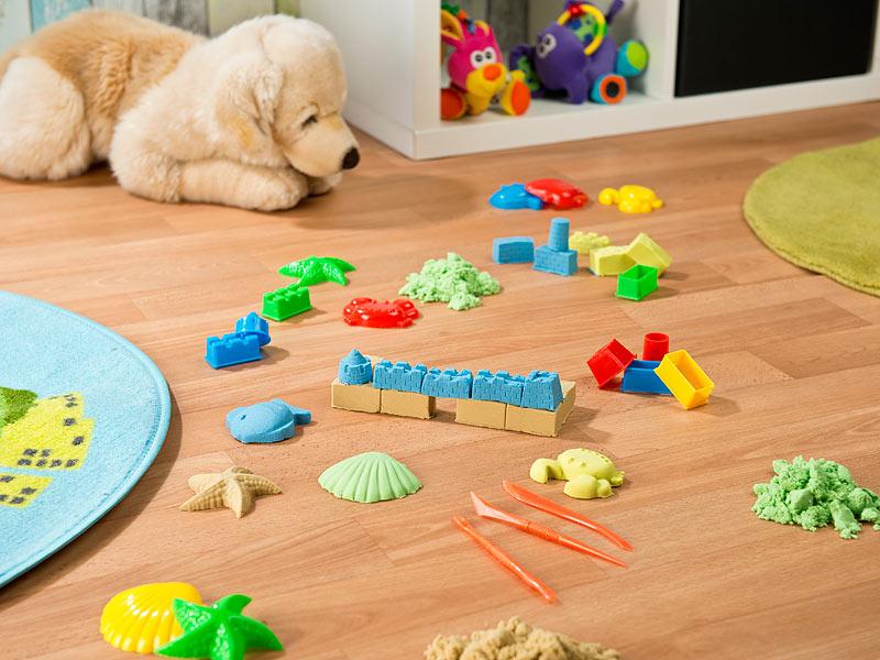 gratis: Playtastic Kinetischer Sand in 2 Farben, je 300 g, mit Sand-Formen und Werkzeugen + ab 4,90 € Versandkosten