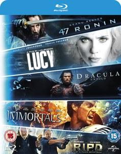 [zavvi] [Blu-ray] Lucy + Dracula Untold + 47 Ronin + Krieg der Götter + R.I.P.D für 10,35€