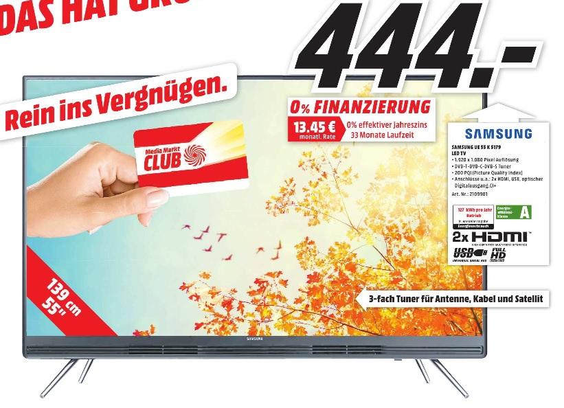 [MM FR] Viele tolle TV Angebote, z.B. Samsung UE55K5179 für 444€ oder Philips 65PUS6521 für 1599€