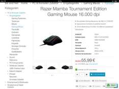 [bit-electronix.eu] Razer mamba tournament Edition plus Versand b ware