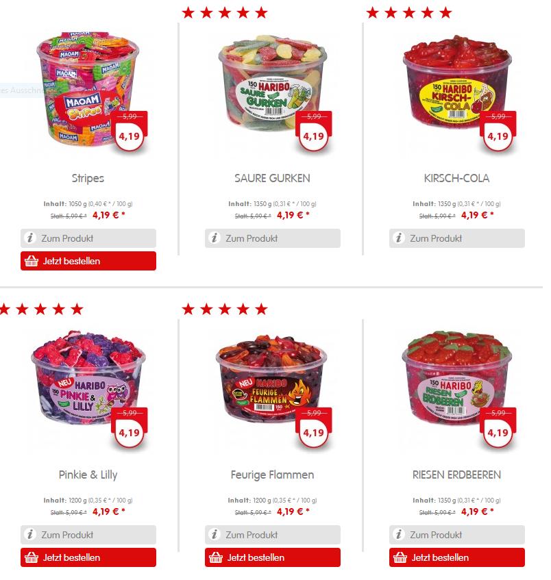 [Haribo Onlineshop] verschiedene Sorten Dosen Gummibärchen/Lakritz bis zu 30% günstiger [VSK 4,90€]