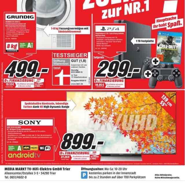 "Sony 55"" XD 8005 TV Lokal im Media Markt Trier"