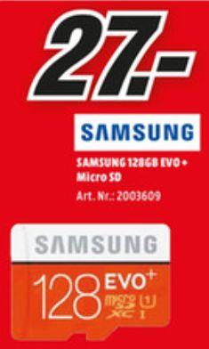 [Lokal Mediamarkt Hannover-Wülfel] Samsung 128GB EVO+ microSD Speicherkarte 80MB/s [+SD-Adapter] für 27,-€