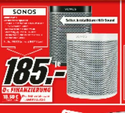 [MM Köln Chorweiler] SONOS Play:1 für 185 Eur; SONOS Playbar für 685 Euro