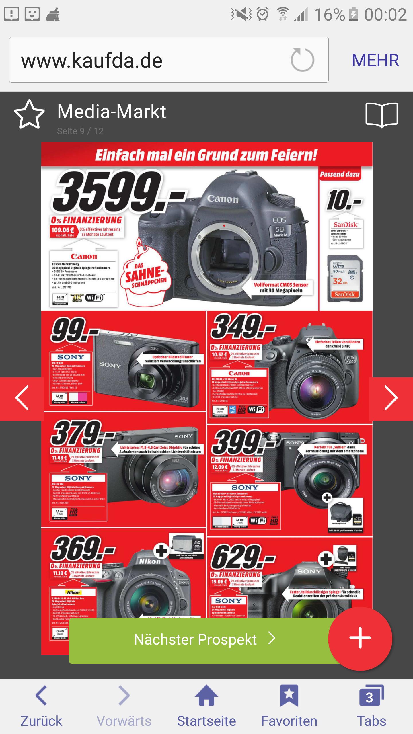Geburtstags Werburg Media Markt Ludwigsburg Canon 5D Mark4 Gehäuse