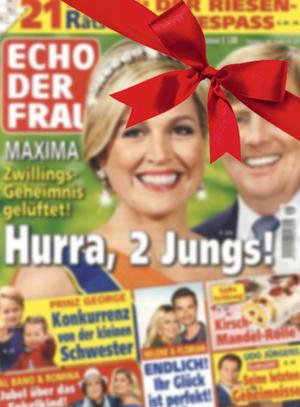 Als Weihnachtsgeschenk: Echo der Frau für 9,95€ statt 96,20€ im Jahresabo (52 Ausgaben) + Gratismonat - Direktpreis - ohne Prämienverrechnung