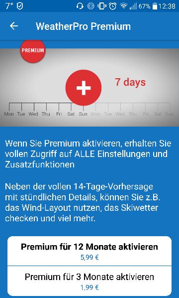 WeatherPro Premium 8. Geburtstag Angebot