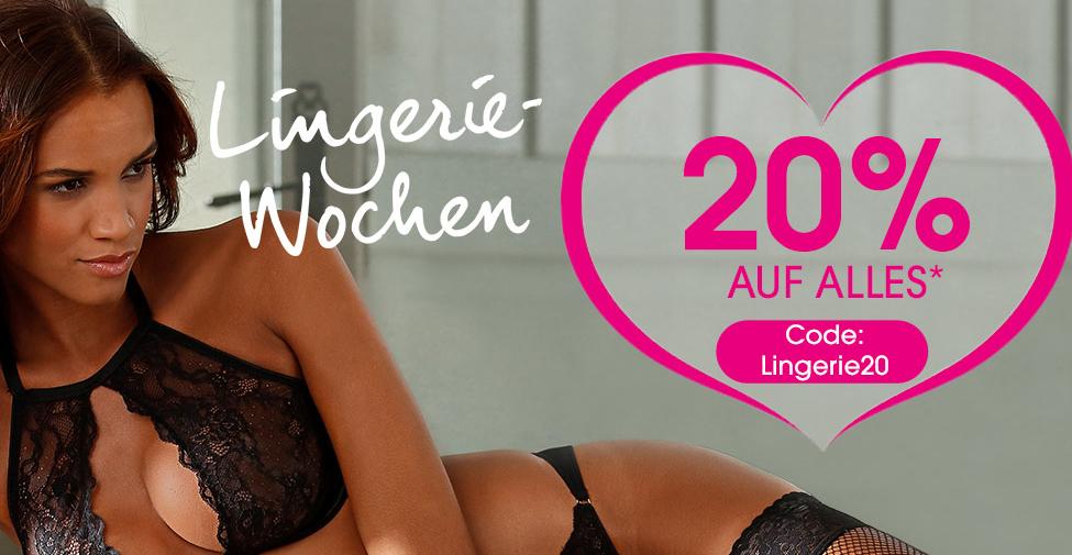 Lingerie-Wochen mit 20% Rabatt auf den kompletten Lascana-Shop inkl. Sale